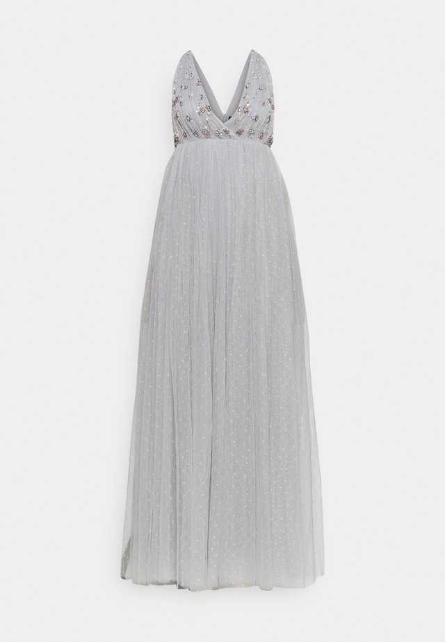 NEVE EMBELLISHED BODICE MAXI DRESS - Gallakjole - frost blue