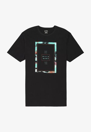 TUCKED - Print T-shirt - black