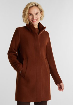 MIT STEHKRAGEN - Classic coat - rust brown
