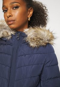 ONLY - ONLNEW ELLAN QUILTED HOOD JACKET - Light jacket - night sky - 5