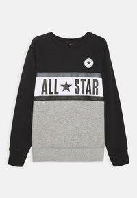 Converse - ALL STAR PANELED CREW UNISEX - Sweatshirt - black - 0