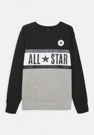 ALL STAR PANELED CREW UNISEX - Felpa - black