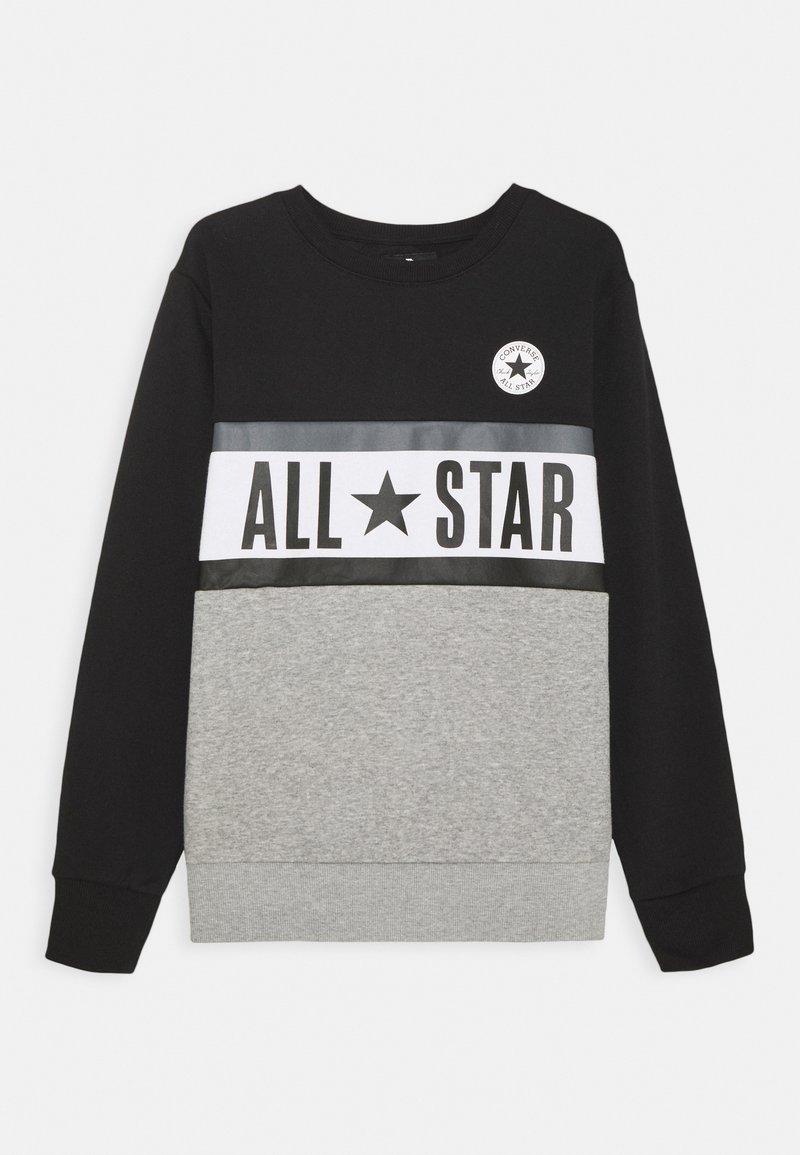 Converse - ALL STAR PANELED CREW UNISEX - Sweatshirt - black