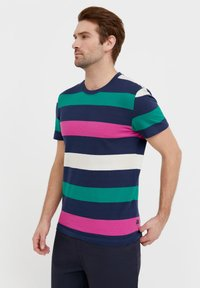Finn Flare - Print T-shirt - dark blue - 3