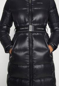 Calvin Klein - LOFTY  BELTED MAXI COAT - Dunkåpe / -frakk - black - 8