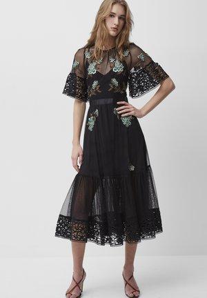 AMBRE  - Day dress - black/hawthorn green