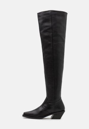 KYLA - Kozačky nad kolena - black