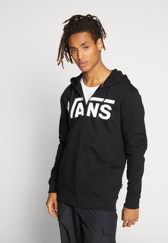 CLASSIC ZIP HOODIE - Zip-up hoodie - black/white