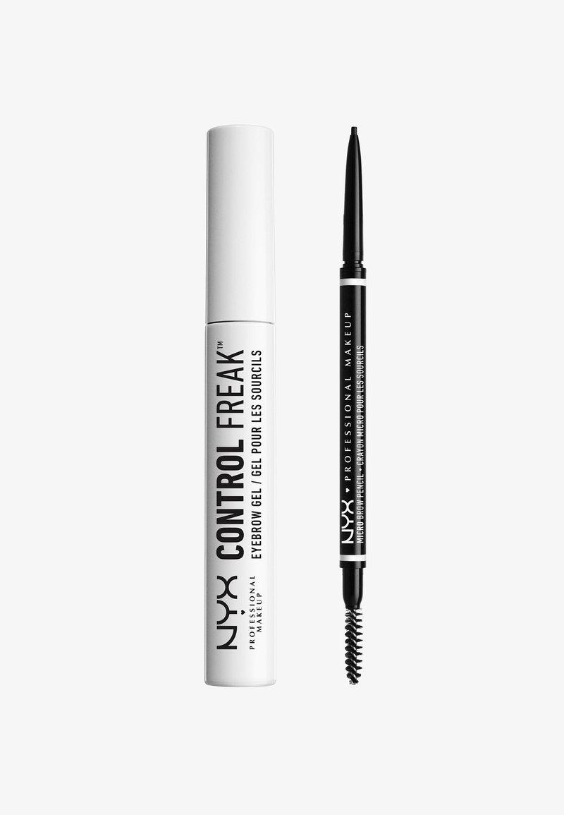 Nyx Professional Makeup - MICRO BROW ESSENTIALS – MIRCRO BROW PENCIL - Makeup set - black