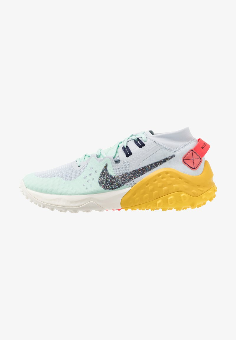Nike Performance - WILDHORSE 6 - Trail running shoes - aura/blackened blue/mint/speed yellow/laser crimson/sail