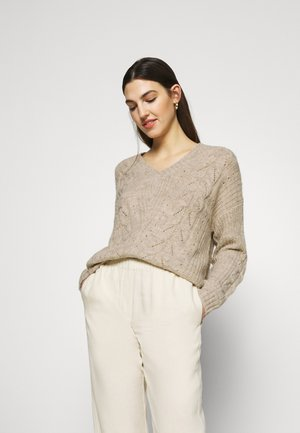 ALLYSSA VNECK - Jumper - rainy day melange