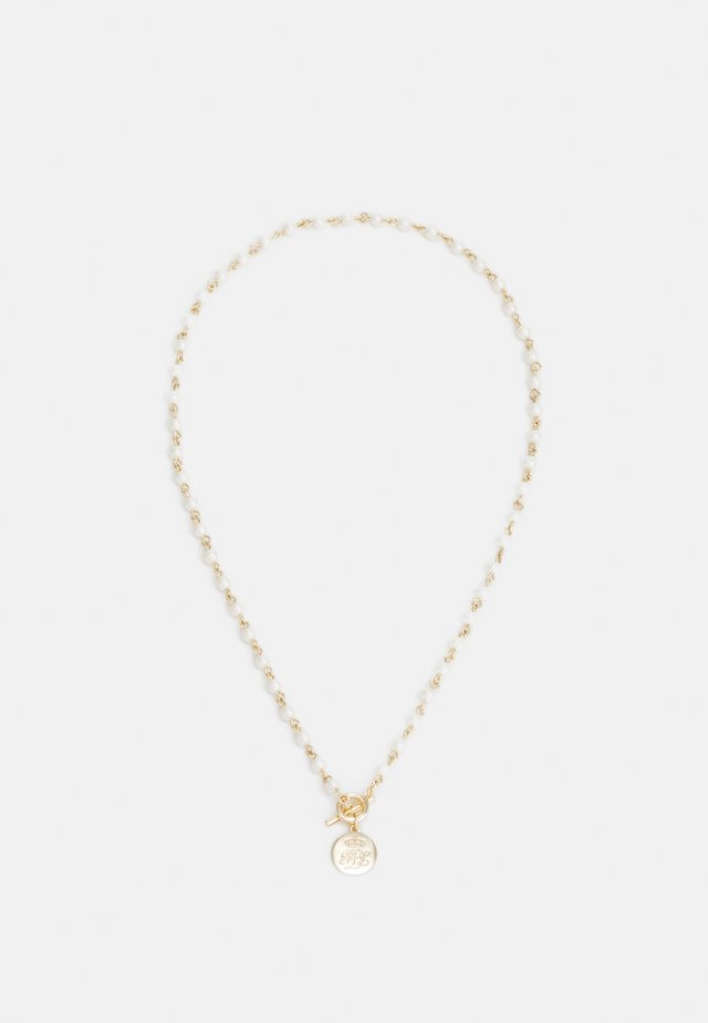 LOGO - Necklace - gold-coloured/white