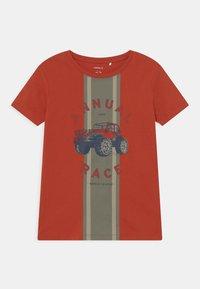 Name it - NMMBERTIL 2 PACK - Print T-shirt - ketchup/bright white - 2