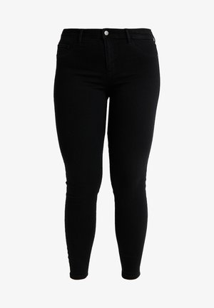 CARTHUNDER PUSH UP - Jeansy Skinny Fit - black