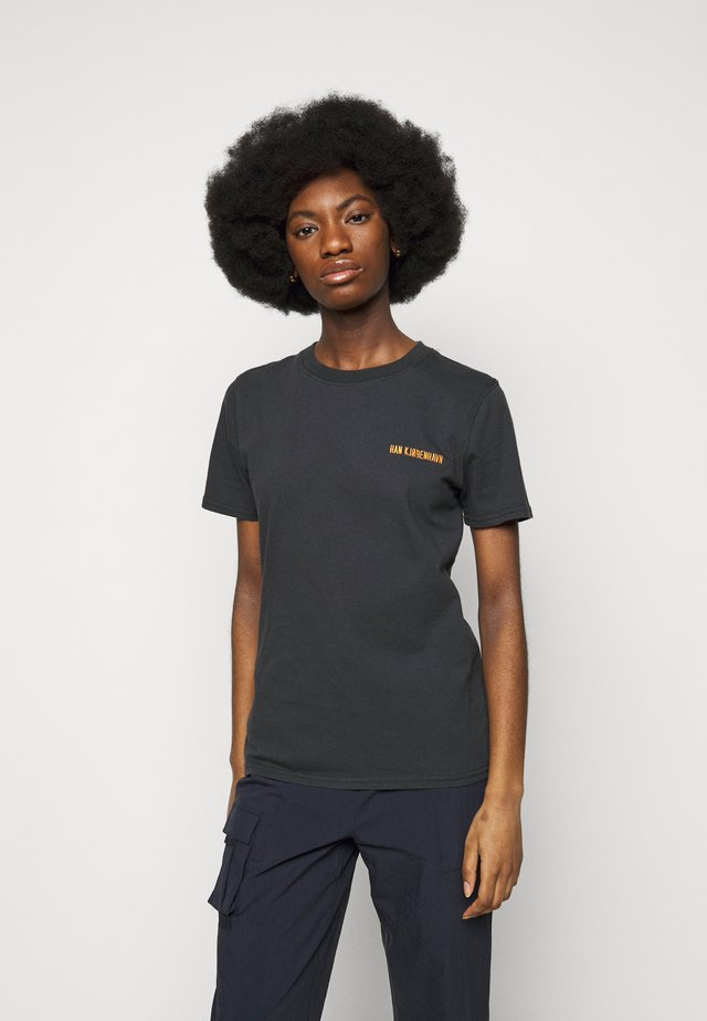 CASUAL TEE - T-shirt med print - faded black