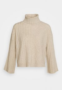 pure cashmere - PATTERNED CROP - Trui - oatmeal - 1