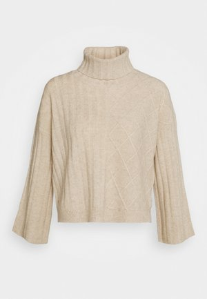 PATTERNED CROP - Jumper - oatmeal