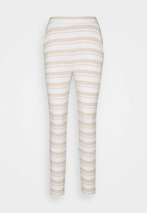 WIDE RIB - Pyjama bottoms - cloud dancer