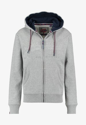 DOWNHILL RACER APP ZIPHOO - Zip-up hoodie - grey