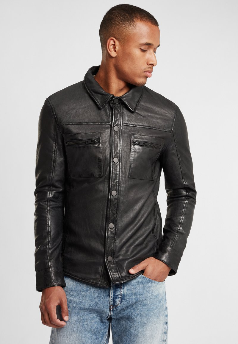 Gipsy - G2BAINIGO SF LABONV - Leather jacket - black