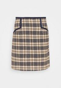 sandro - ANNETTE - Mini skirt - marine/taupe - 3