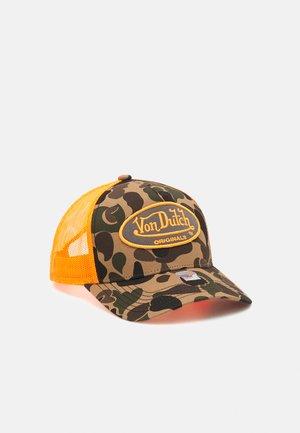 TRUCKER CAMOUFLAGE UNISEX - Cap - khaki/orange