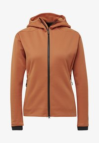 adidas Performance - TERREX CLIMAHEAT HOODED FLEECE - Fleece jacket - brown - 6