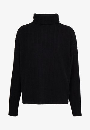 WIDE BRUSHED  - Pullover - black