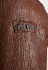 Tigha - FALCO - Veste en cuir - dark brown/beige - 7