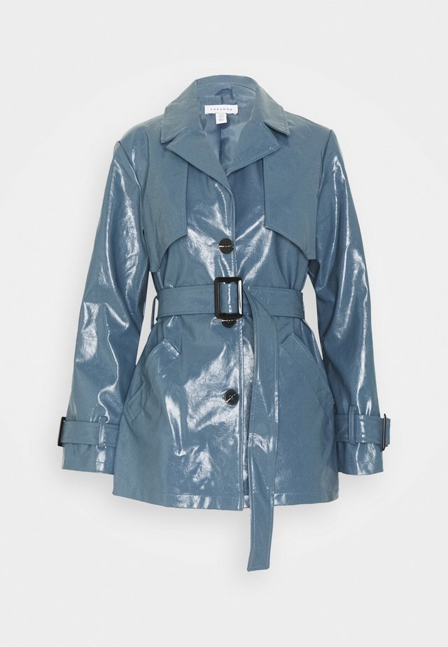 DOLLY SHACKET - Trenchcoat - blue