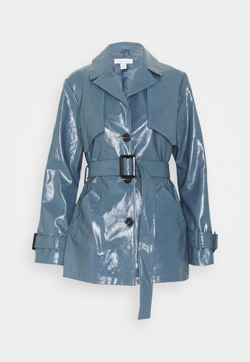 Topshop - DOLLY SHACKET - Trenchcoat - blue