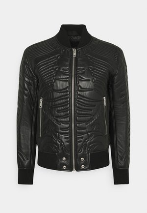 L-FUTURE GIACCA - Leather jacket - black