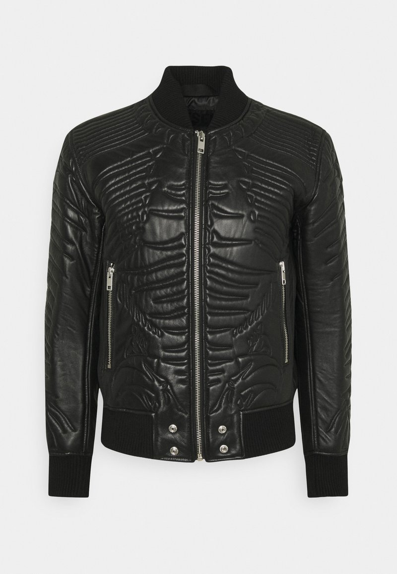 Diesel - L-FUTURE GIACCA - Leather jacket - black