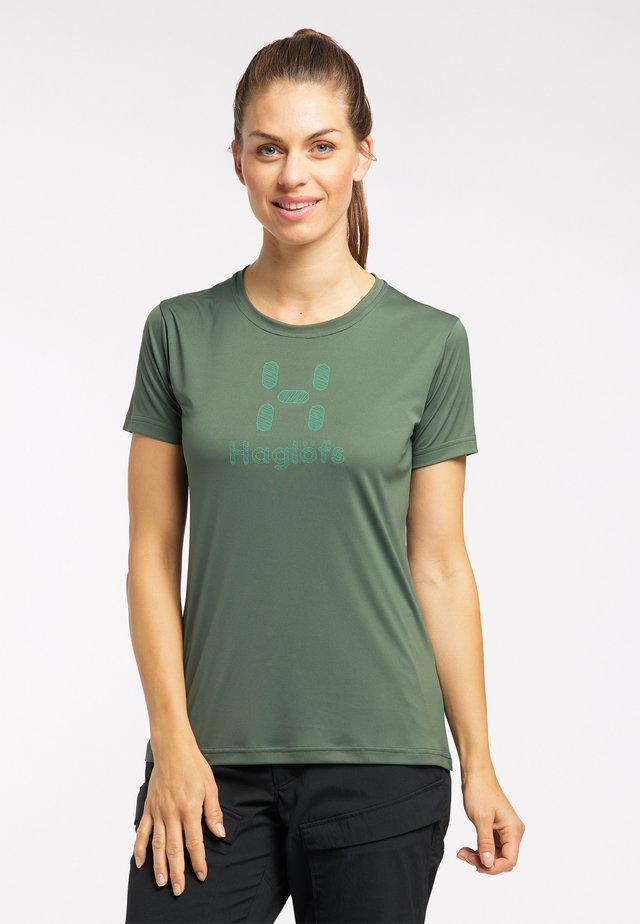 Print T-shirt - fjell green