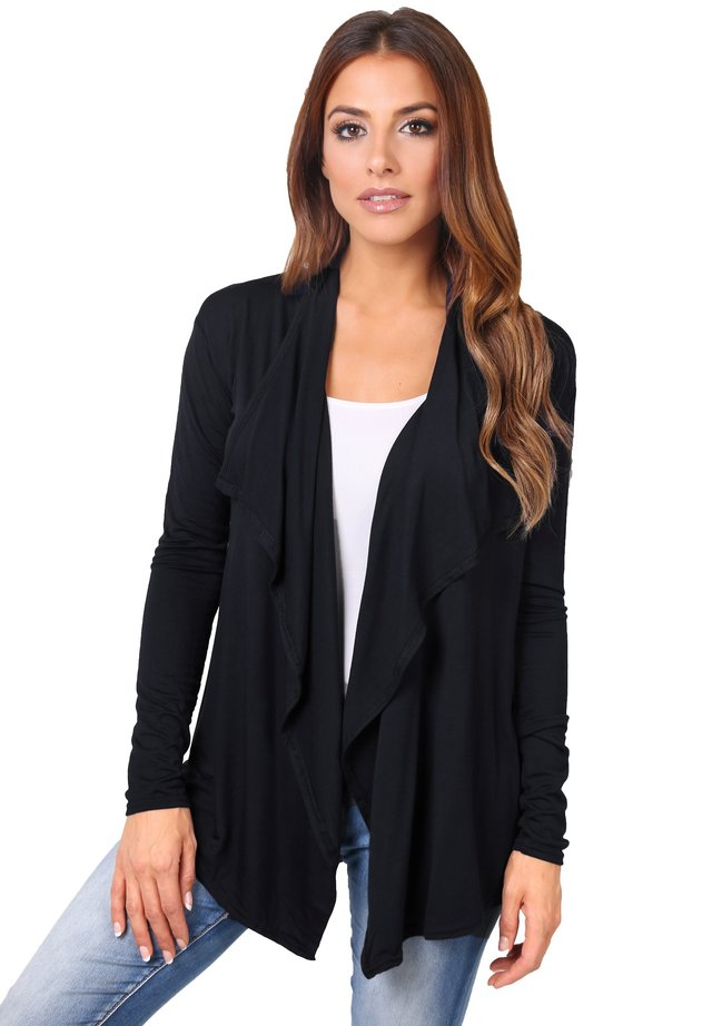 WATERFALL  - Strikjakke /Cardigans - black
