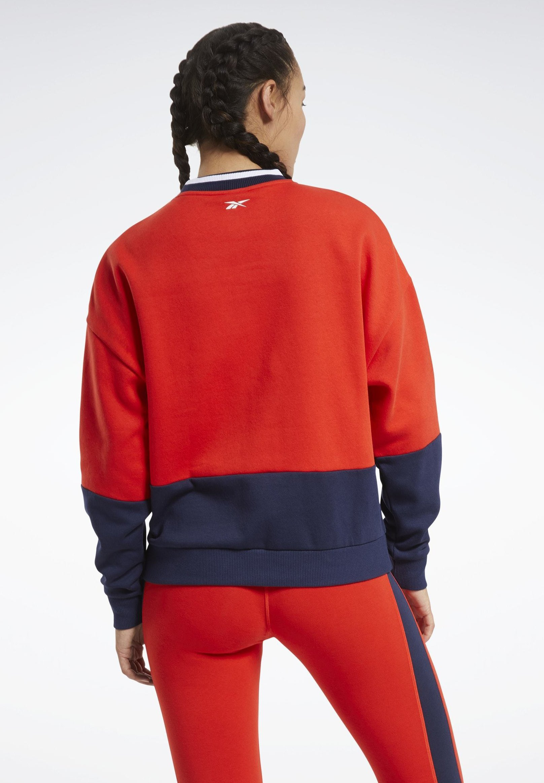 Reebok TRAINING ESSENTIALS LOGO CREW SWEATSHIRT - Sweatshirt - red N4oMq