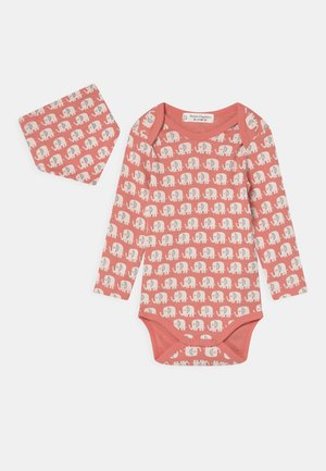 YVON RETRO BABY SET UNISEX - Body - coral