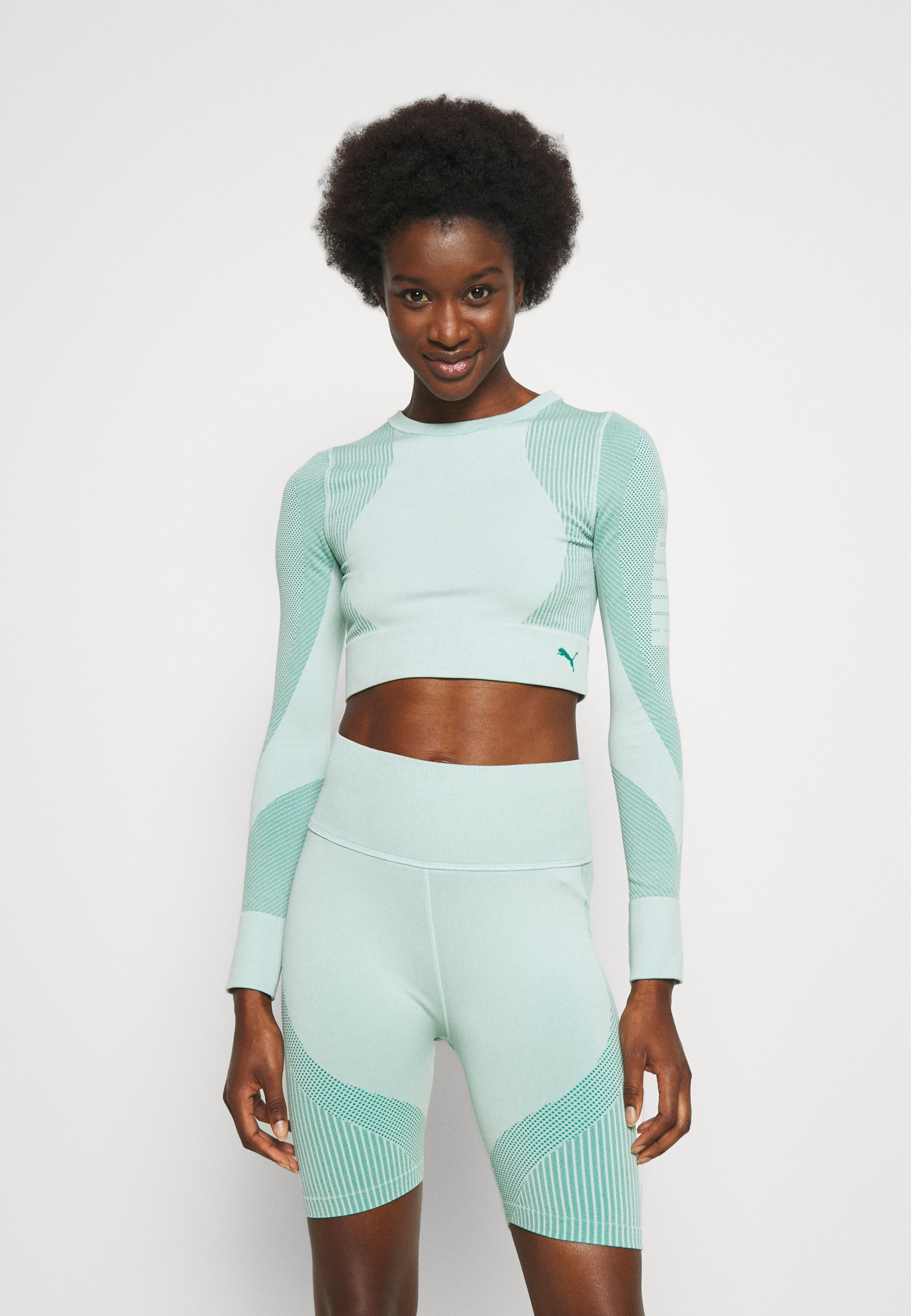 Donna TRAIN SEAMLESS FITTED LONG SLEEVE - Maglietta a manica lunga