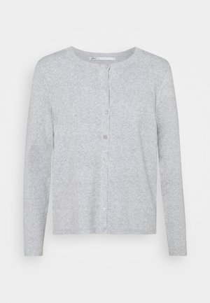 ONLRICA LIFE BUTTON - Cardigan - light grey melange