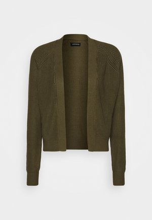BASIC- SHORT OPEN CARDIGAN - Chaqueta de punto - olive night