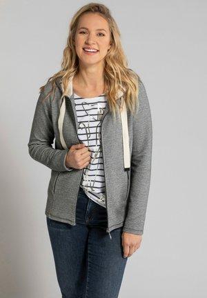 Zip-up hoodie - grau-melange