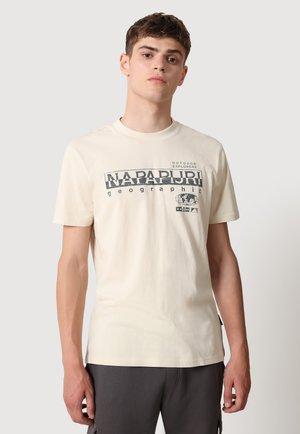 T-shirt med print - whitecap gray