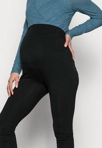 Anna Field MAMA - 7/8 LENGTH MATERNITY LEGGINGS 2 PACK - Leggings - black - 4