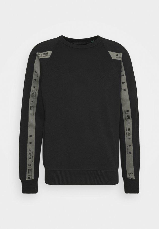 RAGLAN TAPING - Sweatshirt - dark black