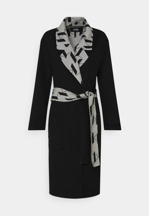 MONOGRAM COAT - Classic coat - black/gray