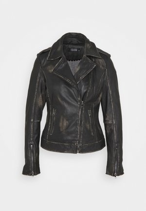 FREYA - Leather jacket - black