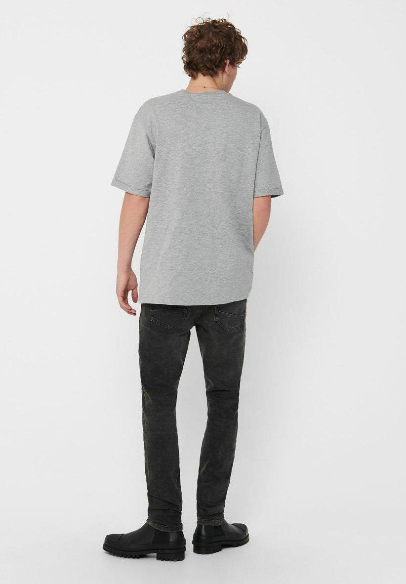 Only & Sons Basic T-shirt - medium grey melange BeAys