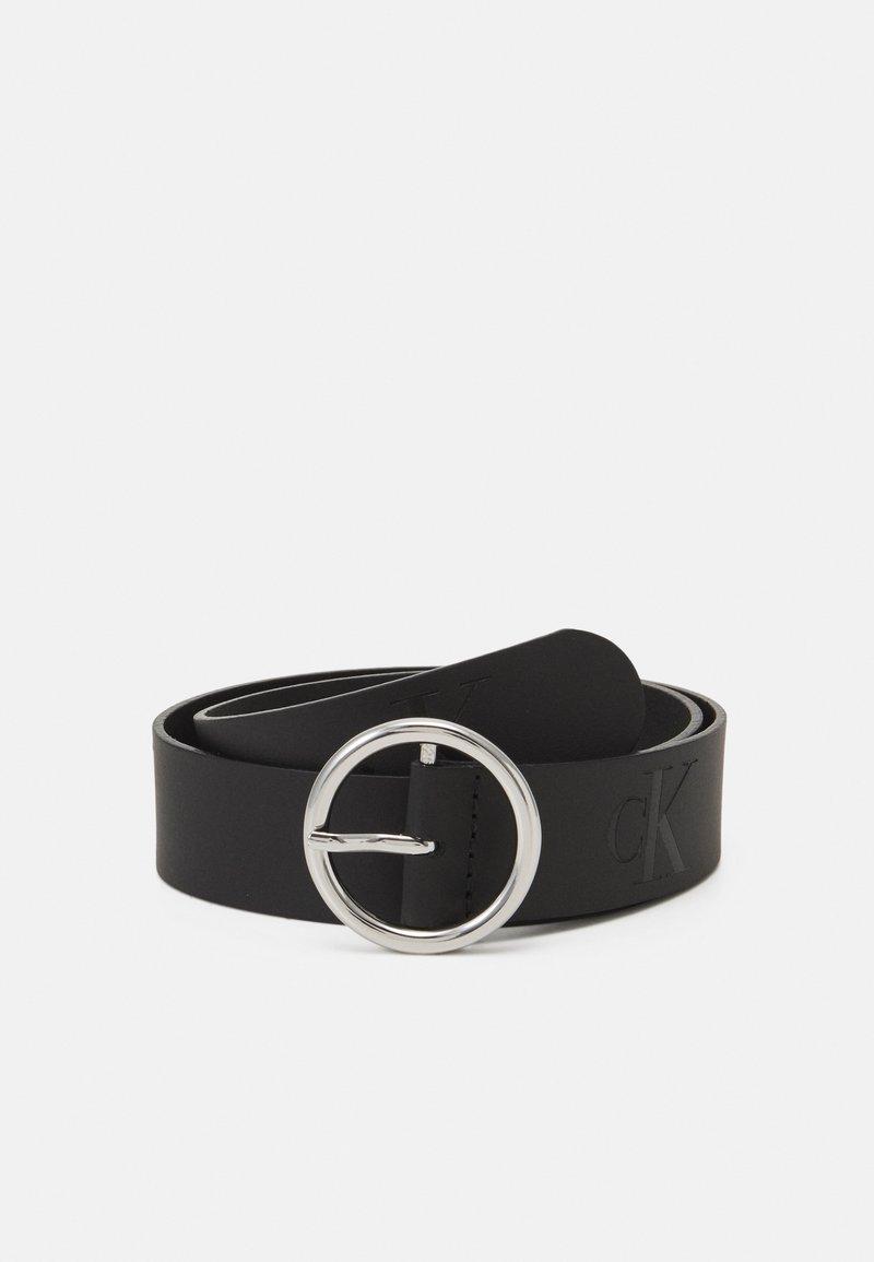 Calvin Klein Jeans - SMALL MONOGRAM BELT UNISEX - Cintura - black