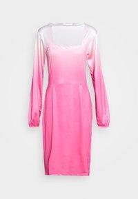HOSBJERG - RILEY LONG SLEEVE DRESS - Pouzdrové šaty - pink dip dye - 4