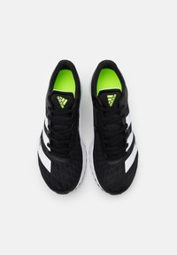adidas Performance - ADIZERO BOUNCE SPORTS RUNNING SHOES - Competition running shoes - core black/footwear white/signal green - 3
